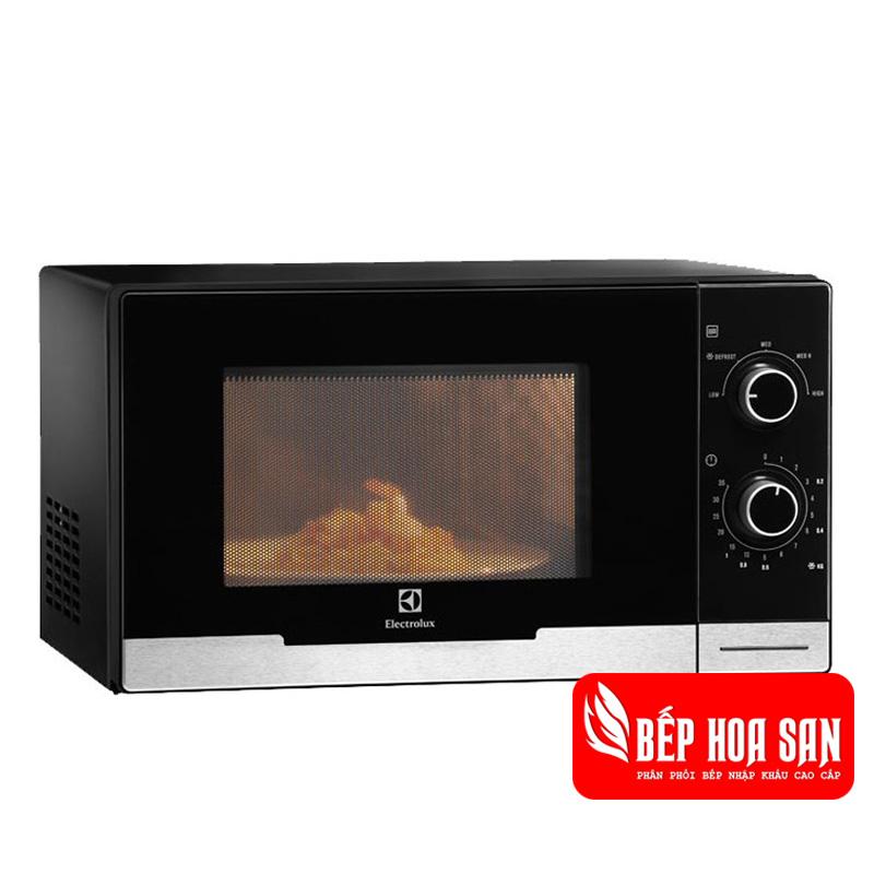 Hình ảnh lò vi sóng Electrolux EMM2308X có kết hơp nướng, màu đen sang trọng