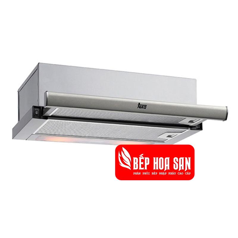 Hình ảnh máy hút mùi Electrolux EFP6520X được lắp đặt âm tủ có màu bạc