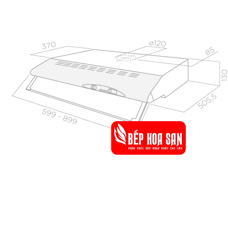 Thiết kế Máy Hút Mùi Elica CONCORDE 2M IX/F/70