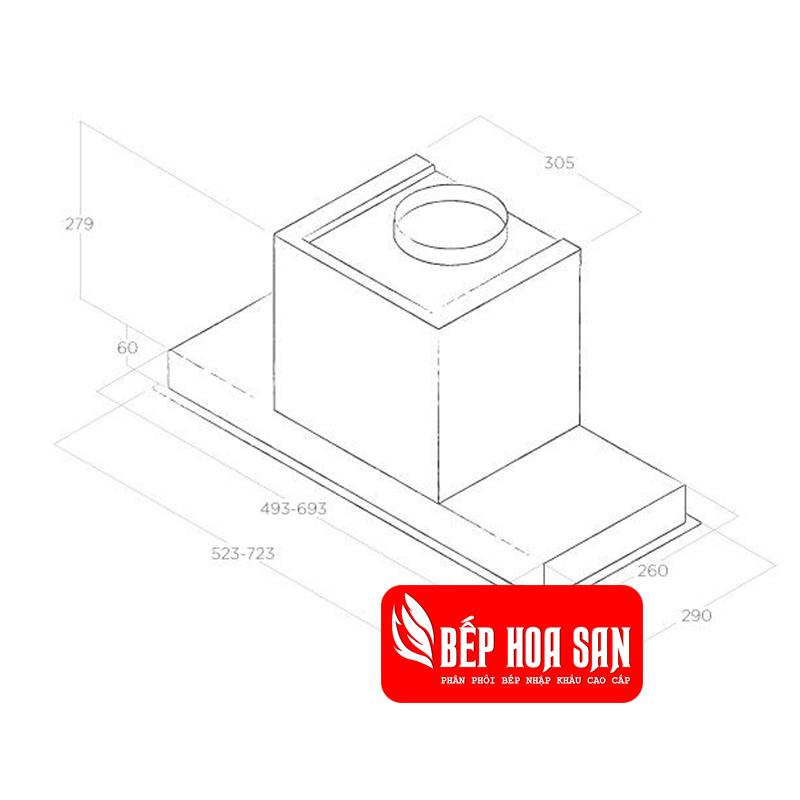 Thiết kế Máy Hút Mùi Elica HIDDEN IX/A/60