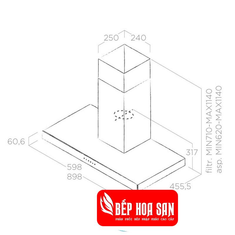 Thiết kế Máy Hút Mùi Elica JOY BLIX/A/90