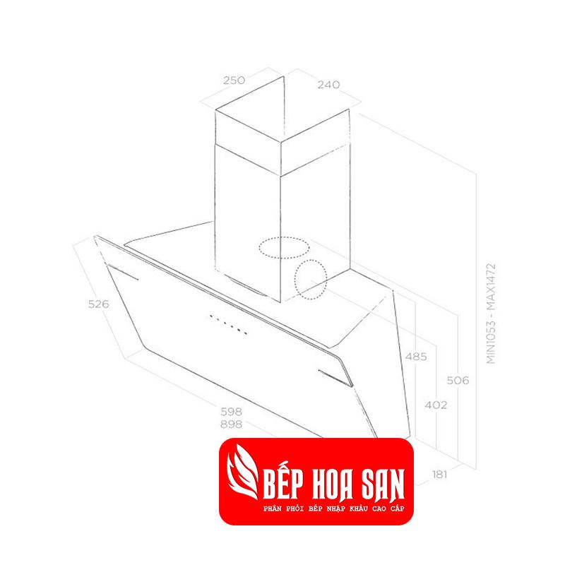 Thiết kế Máy Hút Mùi Elica L'ESSENZA BL/A/90