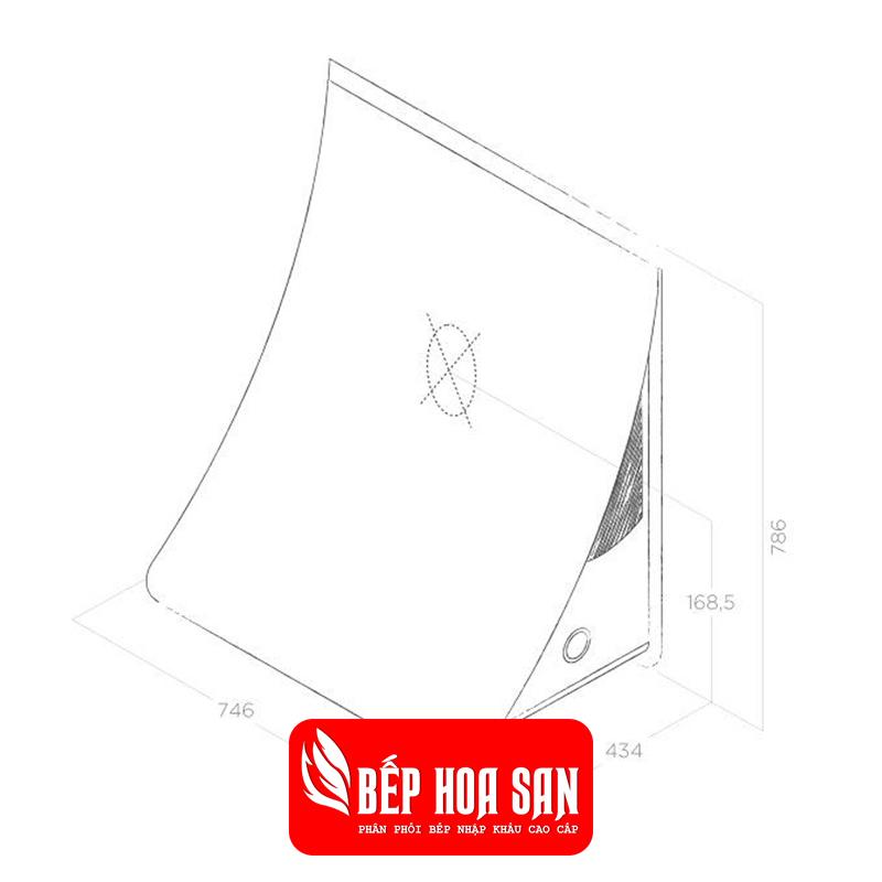 Thiết kế Máy Hút Mùi Elica NUAGE PAINTABLE/F/76