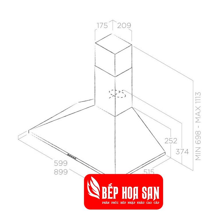 Thiết kế Máy Hút Mùi Elica TAMAYA NW STD IX/F/90