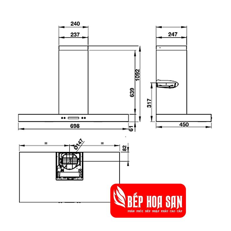 Thiết kế máy hút mùi Hafele HH-WI70B 539.81.168