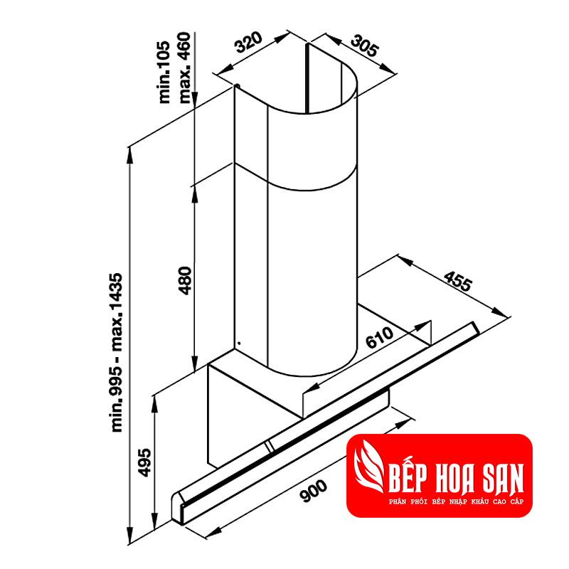 Thiết kế máy hút mùi HH-WVG90A 535.82.203