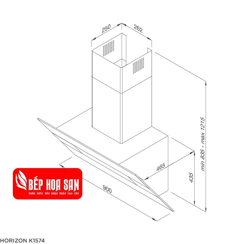 Thiết kế máy hút mùi Malloca HORIZON K1574